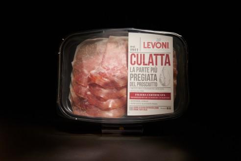 Jambon Culatta - LEVONI Poids: 70g - Prix au kilo € TTC : 85,70 €/Kg - 1
