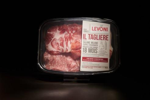 Mix (Saucisson, Coppa, Culatta) - LEVONI Poids: 120g - Prix au kilo € TTC :54,20 €/Kg - 1
