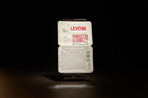 Lardons (Pancetta) - LEVONI Poids: 140g (2 x 70g)- Prix au kilo € TTC :17,85 €/Kg - 1