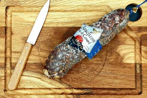 Saucisson de Canard Poids: environ 300g - Prix au kilo € TTC : 36,70 €/Kg - 1