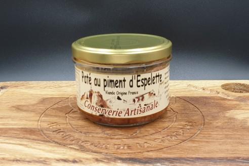 Pâté au piment d'Espelette Poids: 180g - Prix au kilo € TTC : 21,70€/Kg - 1