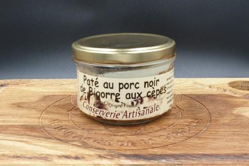 Pâté de porc noir de Bigorre aux cèpes Poids: 180g - Prix au kilo € TTC : 27,80€/Kg - 1