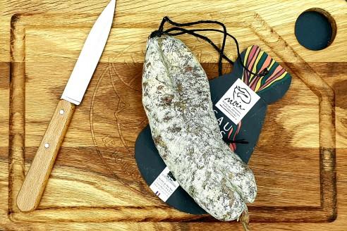 Saucisson Noir de Bigorre Poids: environ 230g - Prix au kilo € TTC :69,56€/Kg - 1