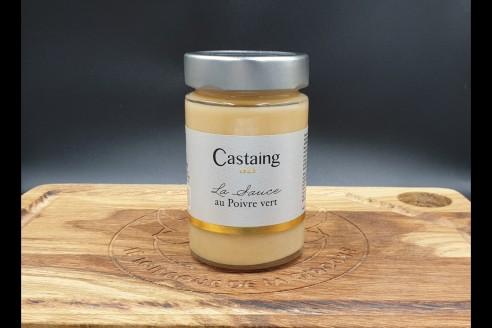 Sauce au poivre vert Castaing Poids: 180g - Prix au kilo € TTC : 33,34 €/Kg - 1