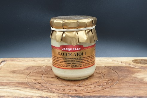 Sauce aïoli Jacquelin Poids: 180gr - Prix au kilo € TTC : 25 €/Kg - 1
