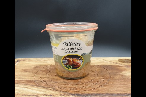 Rillettes de poulet- Vallégrain Poids: g - Prix au kilo € TTC : €/Kg - 1
