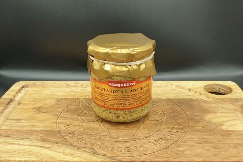 Moutarde à l'ancienne Jacquelin Poids: 200gr - Prix au kilo € TTC : 22,50 €/Kg - 1